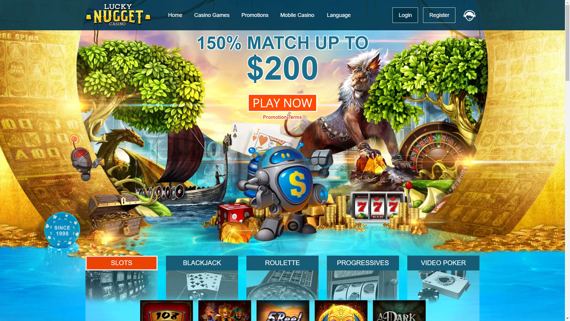Lucky Nugget Casino screenshot