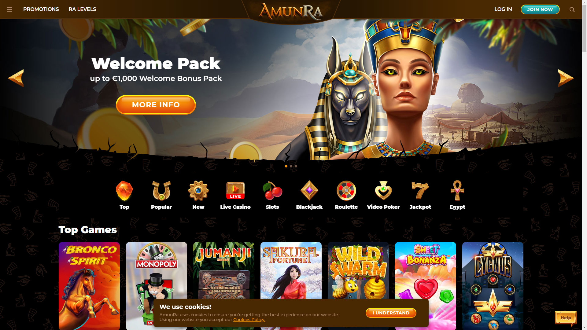 Amun-Ra Casino screenshot