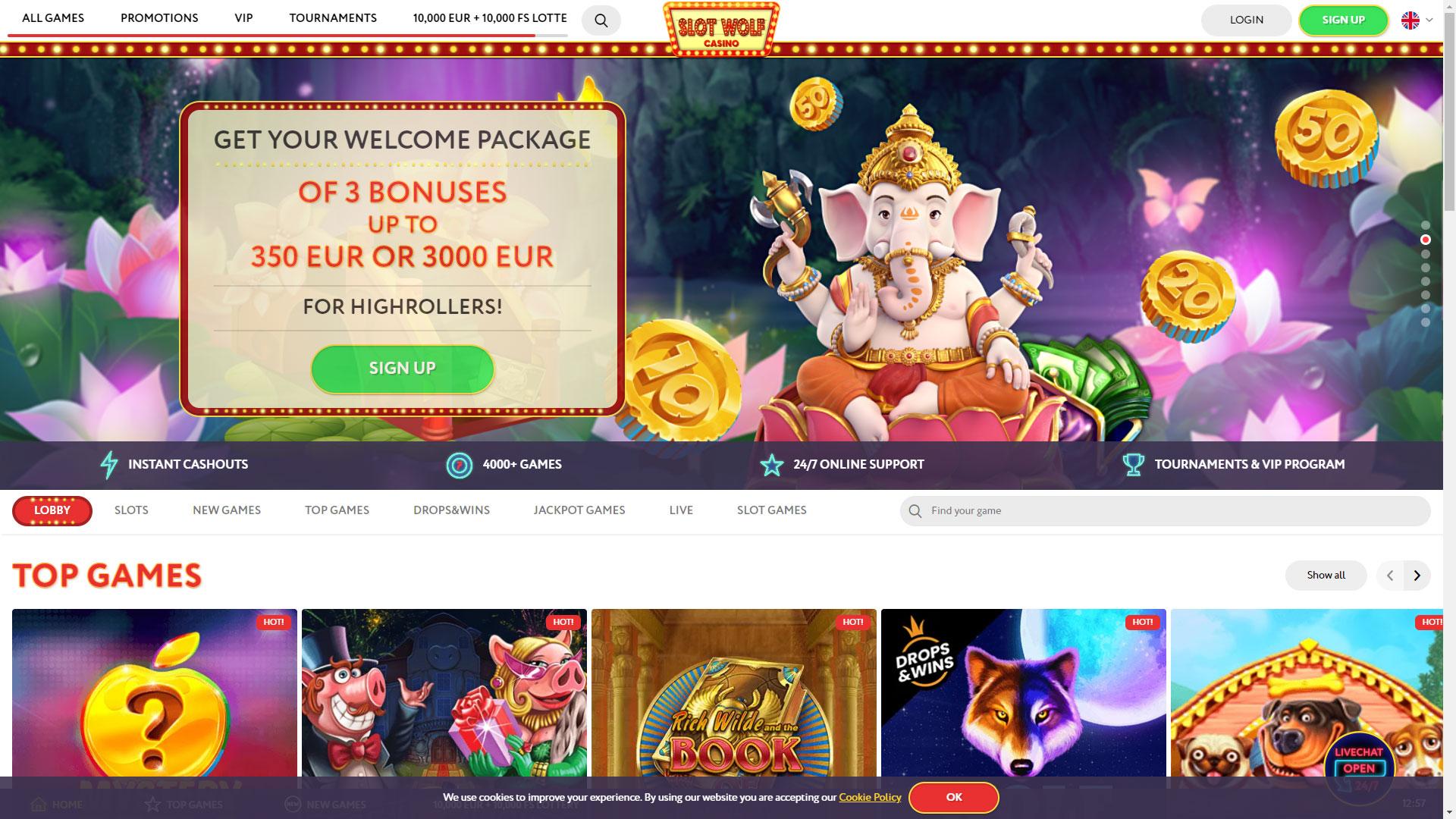 SlotWolf Casino screenshot