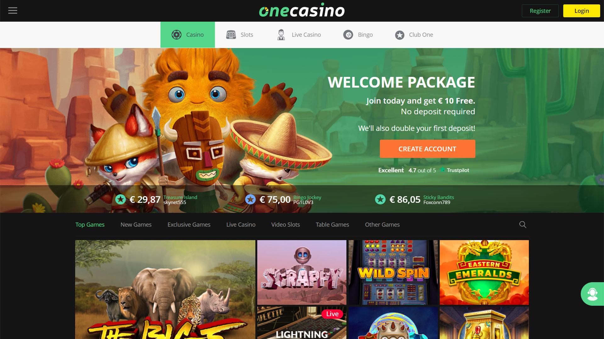 One Casino screenshot