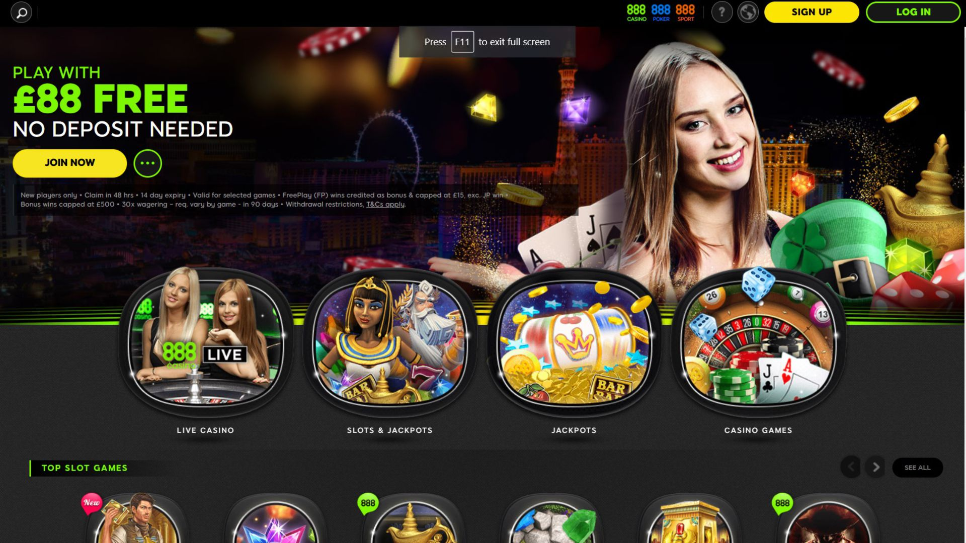 888 Casino Casino screenshot