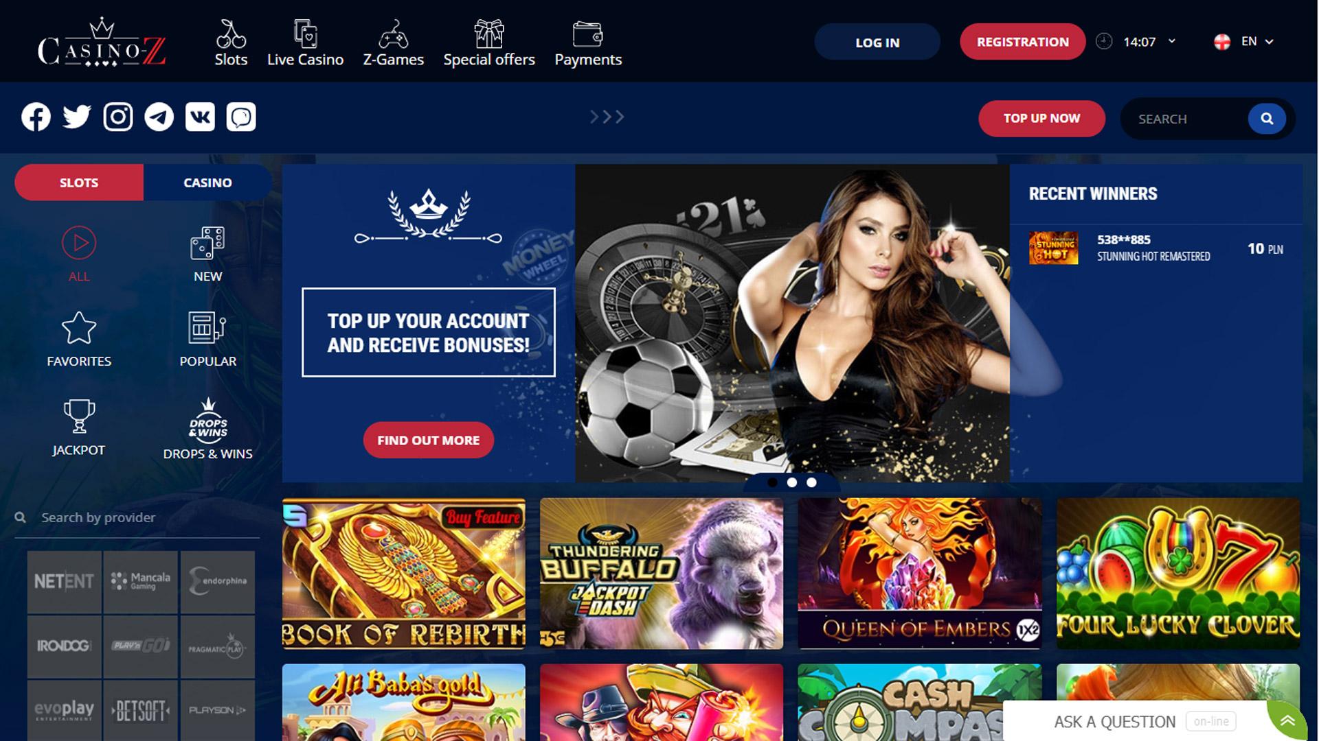 Casino-Z Casino screenshot