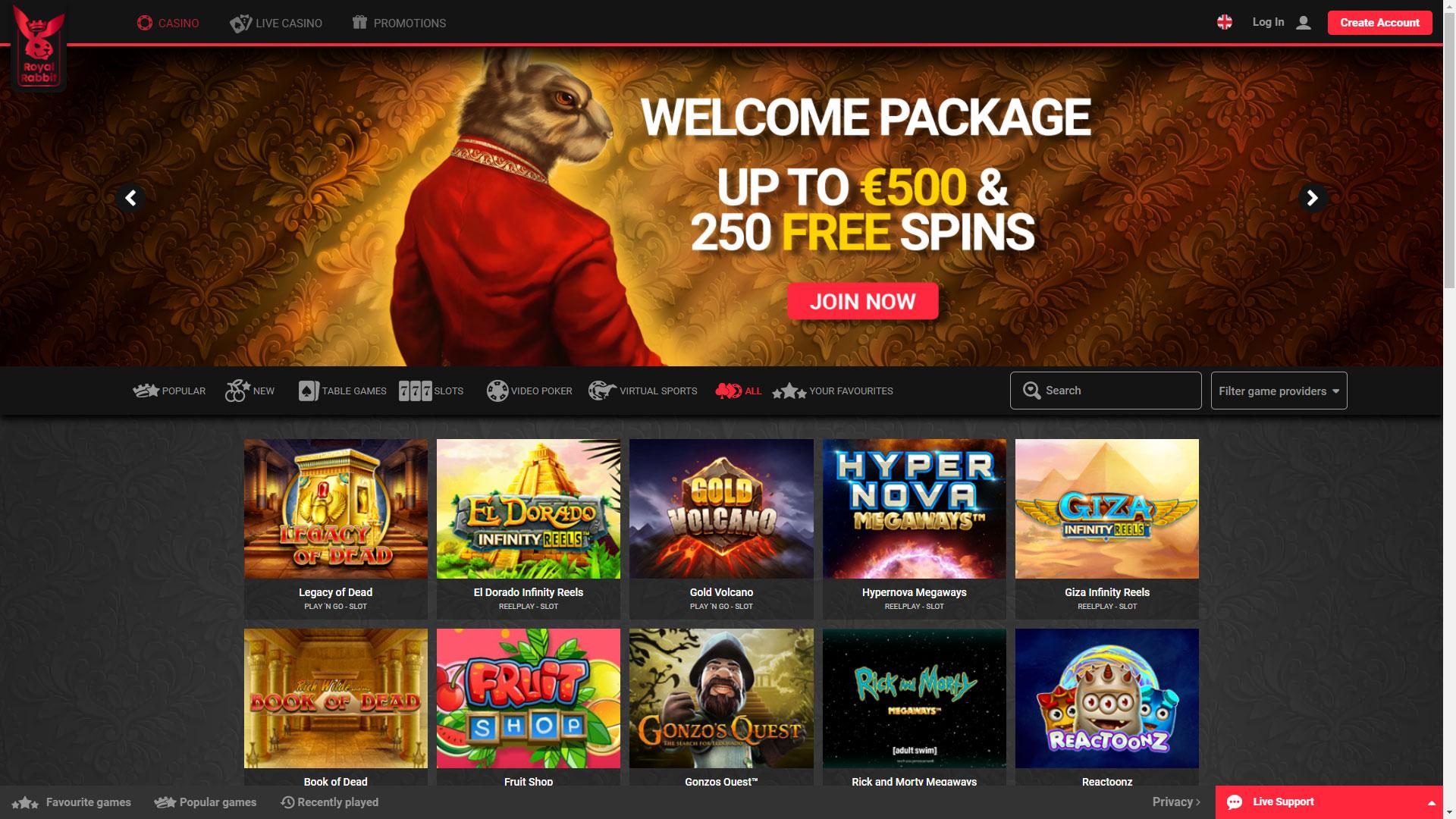 Royal Rabbit Casino screenshot