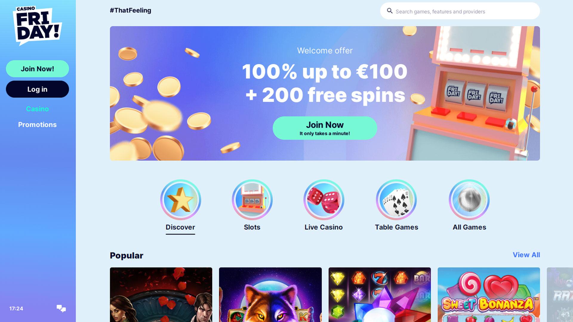 Casino Friday Casino screenshot