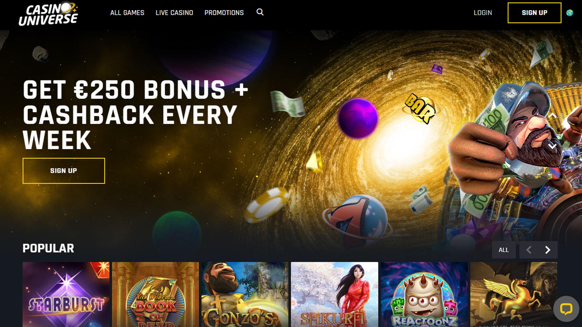 Casino Universe Casino screenshot