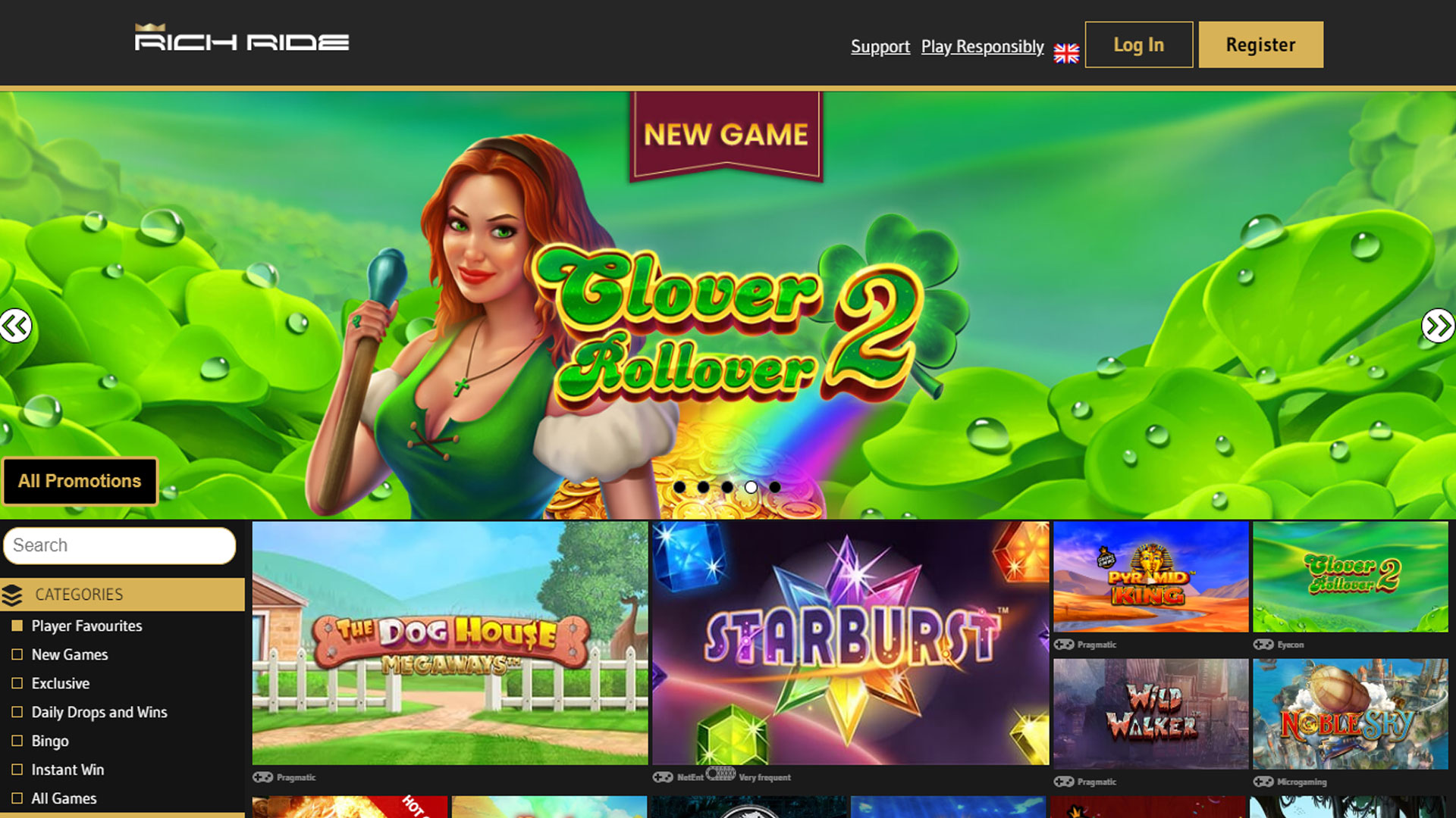 Rich Ride Casino screenshot