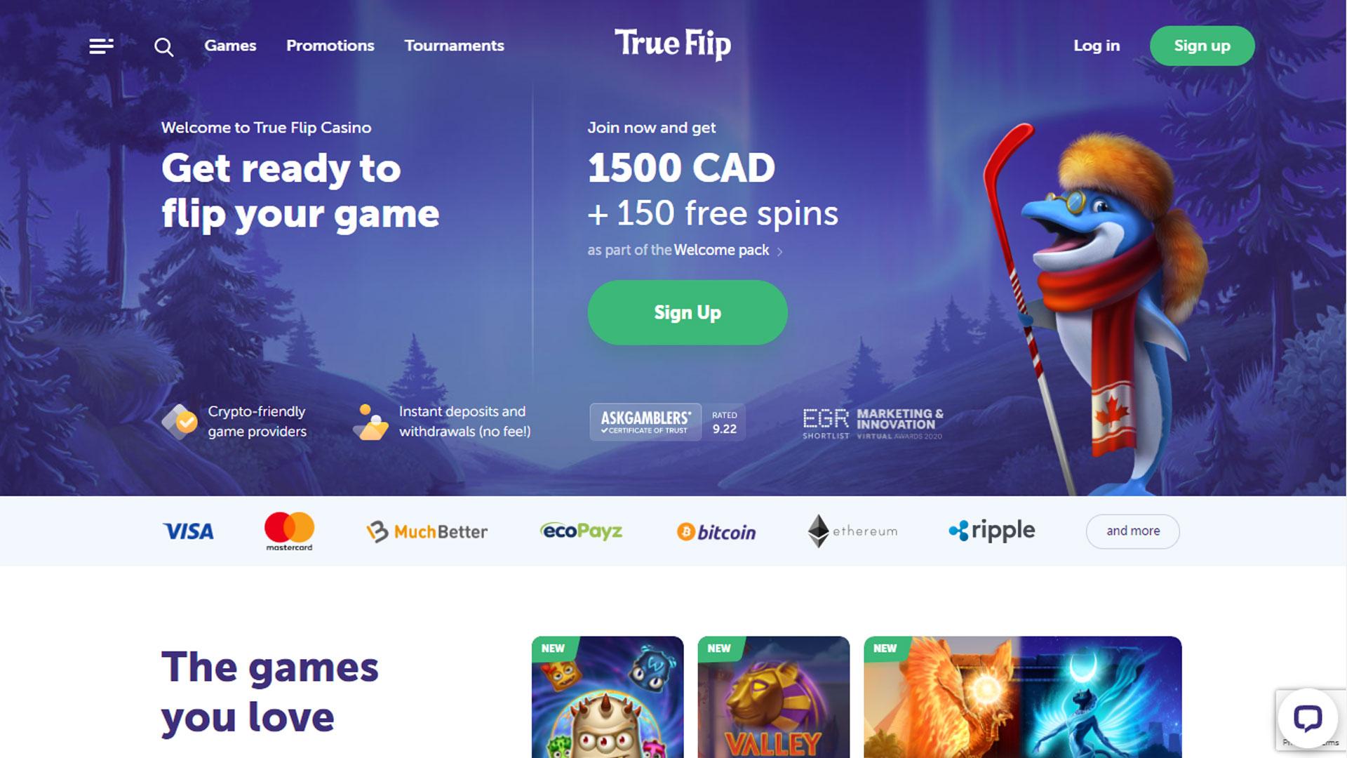 True Flip Casino screenshot