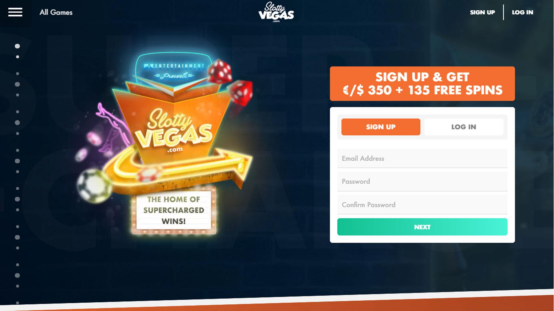 Slotty Vegas Casino screenshot